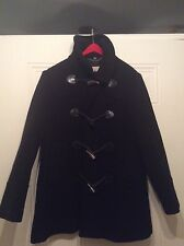 Burberry Women's London Black Wool Pea Coat Jacket Size 6R (UK) 4R (US)