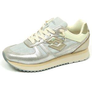 Lotto Glitte Greycream E9140 Donna Sneaker De Woman Leggenda Wedge Tokyo Detalles Shoe BQdxhstCor