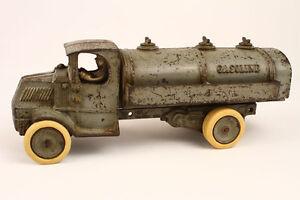 Antique-1925-Arcade-Cast-Iron-Mack-Tank-Truck-13-1-4-034-L