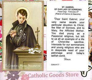 Saint-Gabriel-Dolentis-de-Nuestros-Mujer-Penas-Rezos-Paperstock-Santa