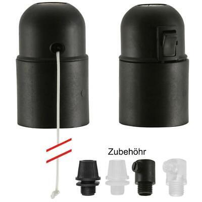Lampenfassung Fassung E27 mit Zugschalter o Wippschalter ohne Ausengewinde