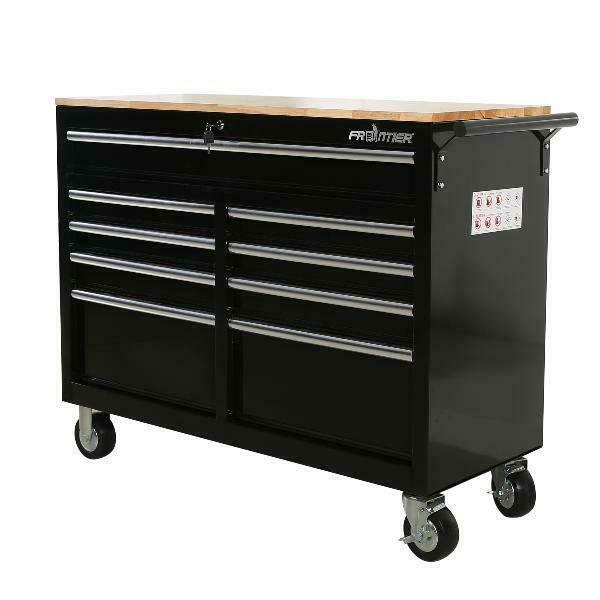 Awe Inspiring Mobile Workbench Tool Chest Tool Cabinet Wooden Work Surface 46 In 9 Drawer Machost Co Dining Chair Design Ideas Machostcouk