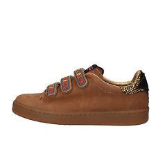 scarpe donna SERAFINI 37 EU sneakers marrone pelle scamosciata AF862-B