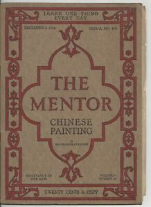 The Mentor Magazine December 1918 Chinese Painting 6 B & W Gravures