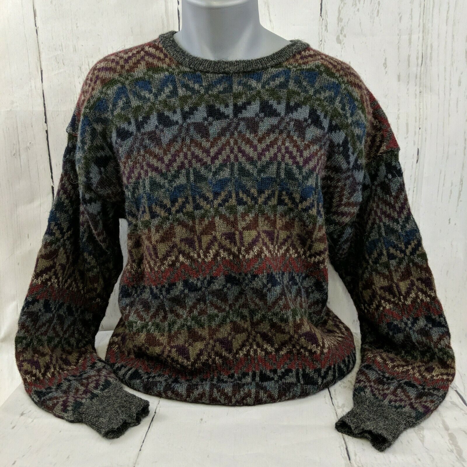 Millma 100% Alpaca Handloomed Sweater Size Large