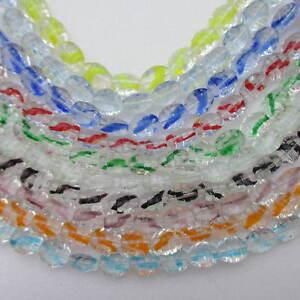 10 Cordes Perles De Verre Couleurs Assorties Taille 12x10mm Roundflat 250 Perles Environ-afficher Le Titre D'origine Surface LustréE