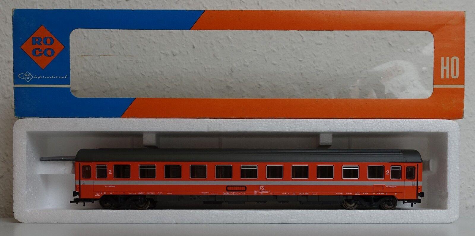 Roco 44310 FS Eurofirma Orange 2. Klasse Personenwaggon Italien - selten  | Am praktischsten