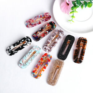 Geometric-Shiny-Hairpins-Girls-Hairgrips-Tin-Foil-Sequins-Acrylic-Hair-Clips