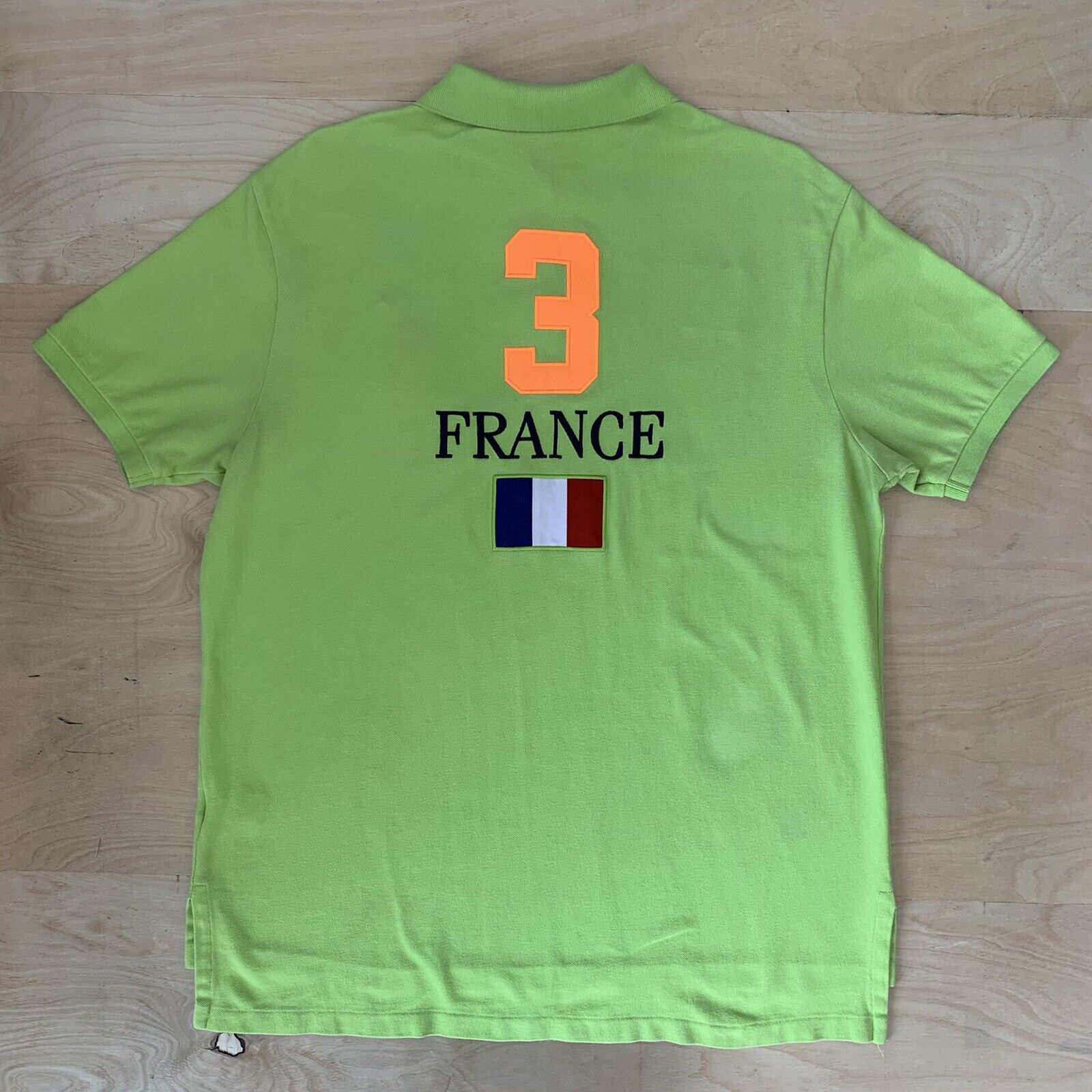 Vintage Polo Ralph Lauren France Rugby Shirt XL G… - image 5
