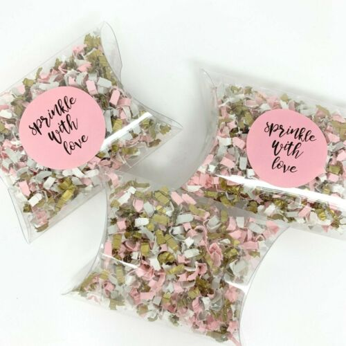 10 x Ivory Grey Gold Pink Clear Biodegradable Wedding Confetti Pockets Packs Pod
