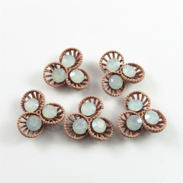 Multiple Colors Zinc Alloy Crafts Jewelry Mini Seed Look Charms Pendants 9*5*1mm