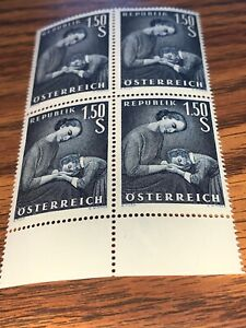 Austria-Stamps-1-50-S-Mother-And-Daughter-Block-Of-4-Mnh