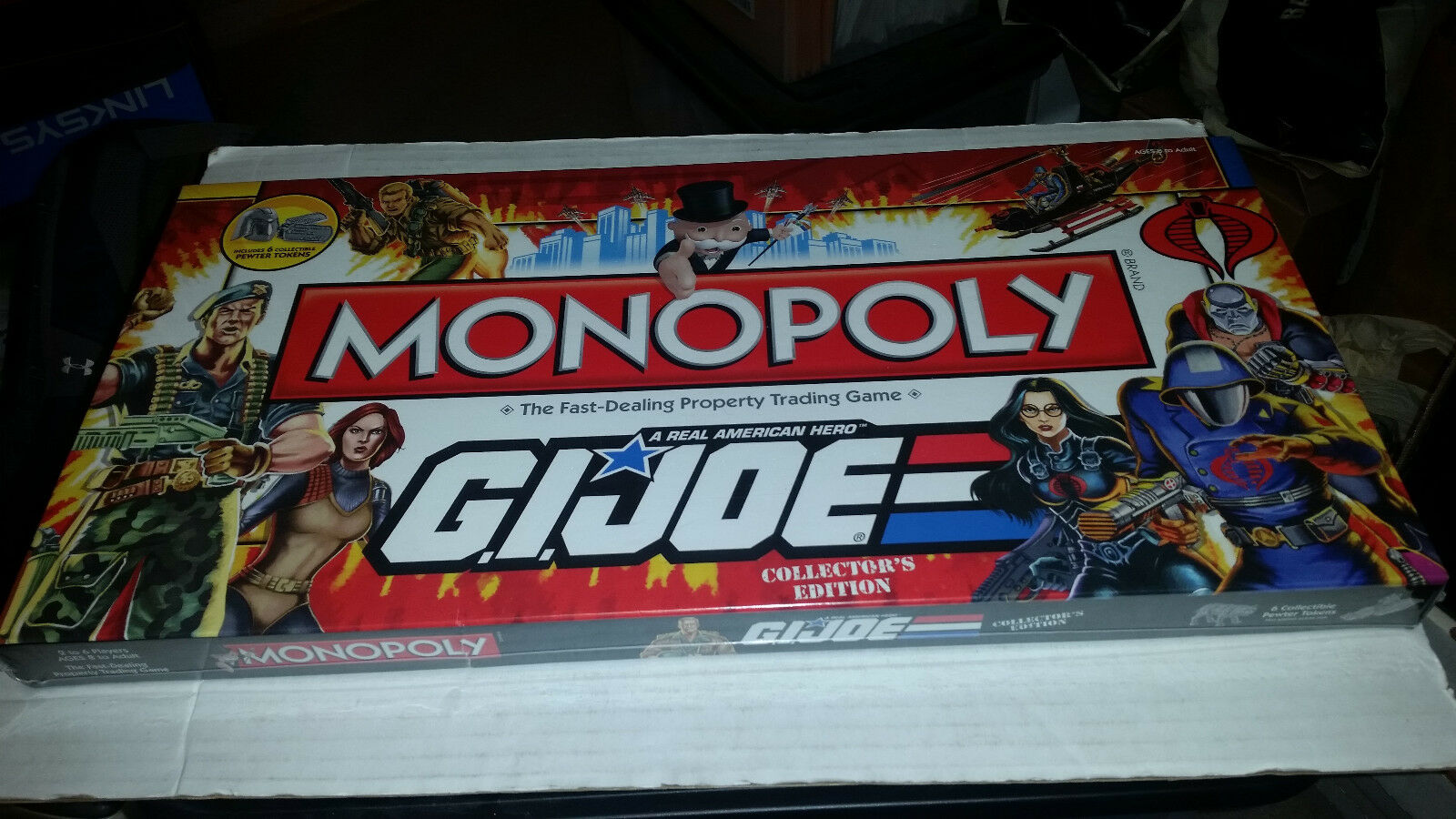 G.I.Joe Collector's Edition Monopoly Board Game NEW SEALED
