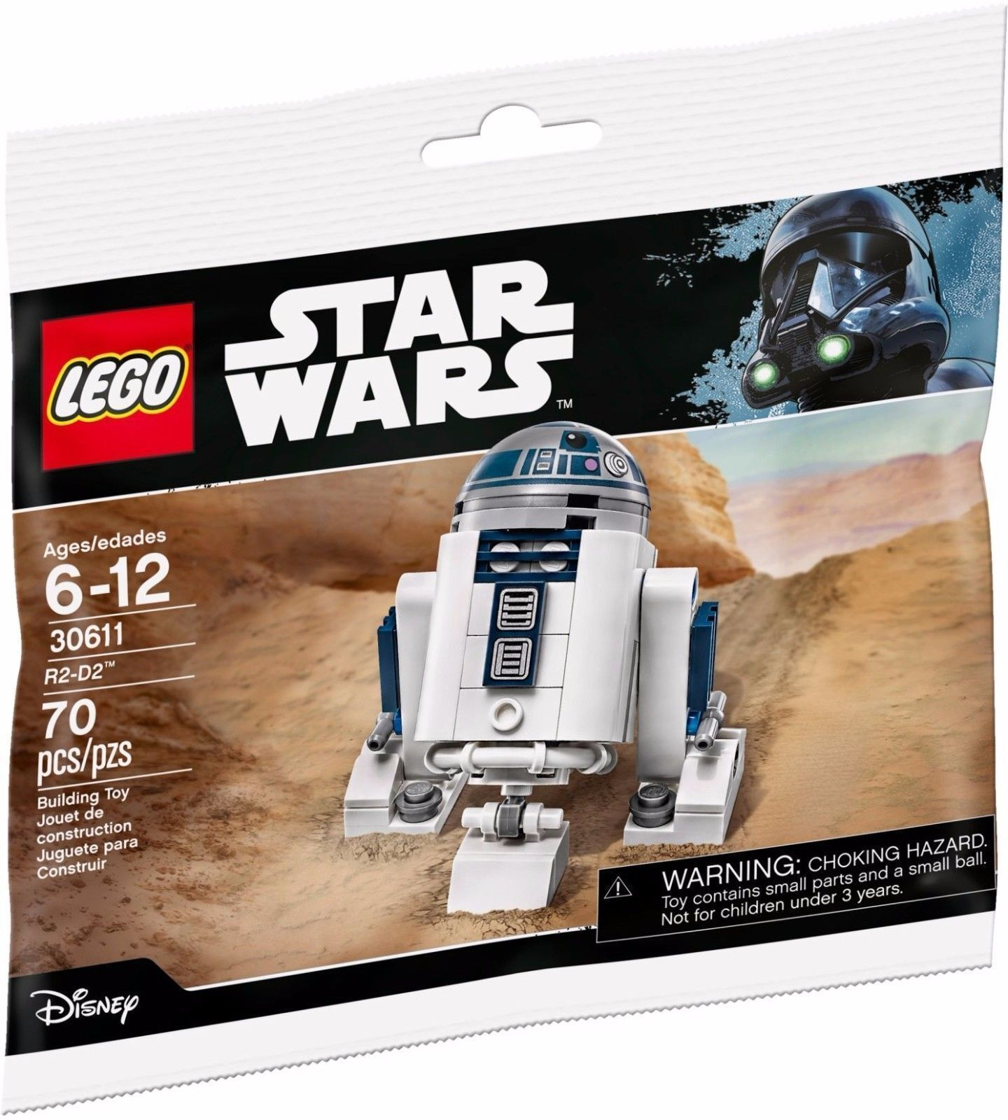 LEGO 30611 STAR WARS R2-D2 RARE POLYBAG EXCLUSIVE NEW NEW COURIER DELIVERY