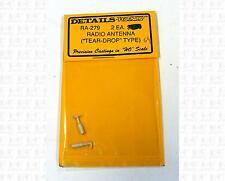 Details West HO Parts: Tear Drop Type Radio Antennas RA-279