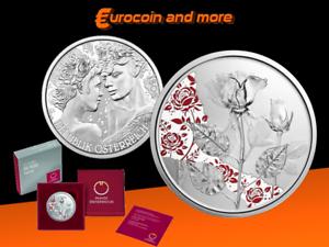 10 Euro Österreich 2021 - Mit der Sprache der Blume - Rose in PP / PROOF
