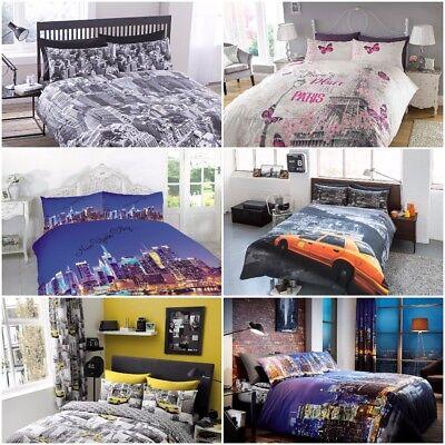 New York Paris London Duvet Sets