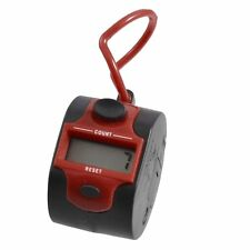 Round Red Black Plastic 5 Number Golf Digital Hand Tally Clicker Counter I4Q6