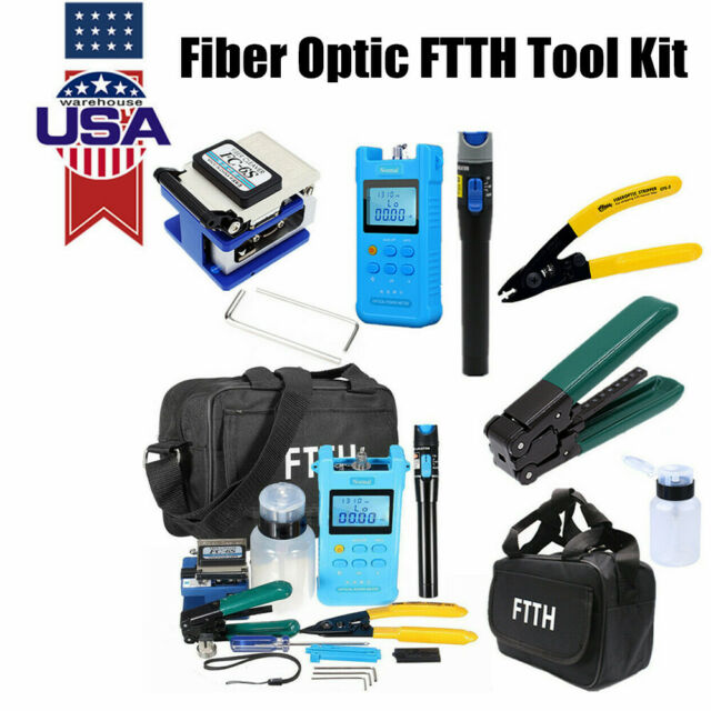 Fiber Optic FTTH Tool Kit Optical Power Meter FC-6S Fiber Cleaver other kits