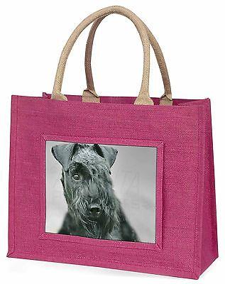 Kerry Blau Terrier Hund Große Rosa Einkaufstasche Weihnachten Geschenkidee,