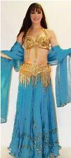 Professional Bellydance Belly Dance Bellydancing Sequin Chiffon Double Skirt