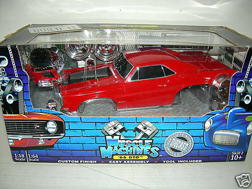 66 GTO Rare rouge Build It Kit Complet. Musc MAC1 18 Comme neuf IN BOX