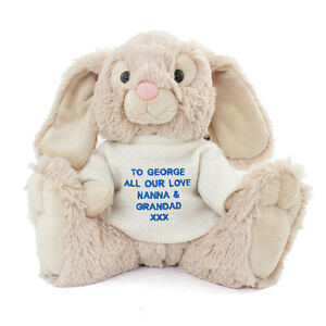 Personalised message bunny teddy unique 1st easter gift baby image is loading personalised message bunny teddy unique 1st easter gift negle Gallery