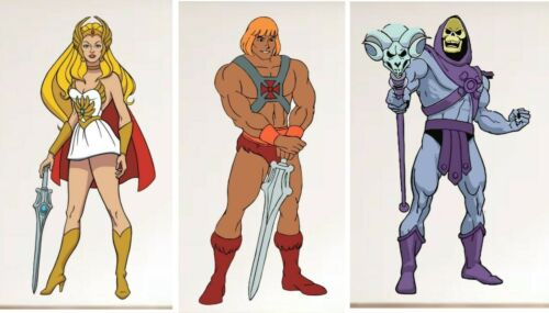les 3 objets 70 cm Tall Masters ou l/'univers Squelettor il man SHE RA