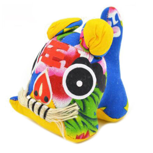 Home Decoration Chinese Style Cloth Tiger Table Decoration Gift