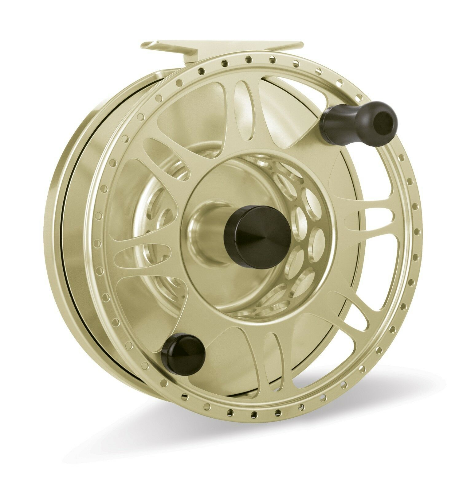 Tibor Pacific Fly Reel, oro, NEW   FREE FLY LINE