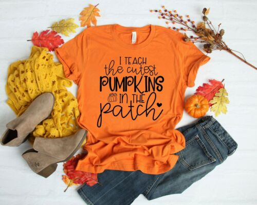 I Teach The Cutest Pumpkins Halloween Teacher Shirt by Saltee Beaches Apparel