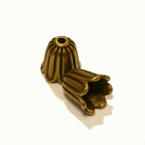 Perlkappen PERLES capuchon extrémités embout TULIPE métal en 4 couleurs 10x10 mm 4x