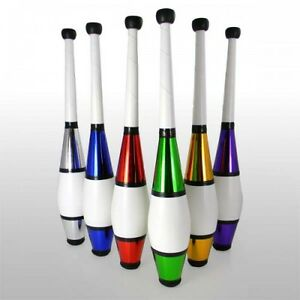 Silver Great Beginner to Intermediate Juggling Clubs with Cascade Juggling Bag 3 x Juggle Dream Euro Clubs