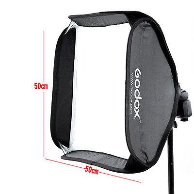 Godox 50x50cm Softbox Bag Kit for Camera Studio Flash fit Bowens Elinchrom Mount