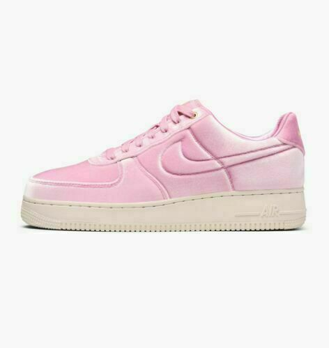 Size 9 - Nike Air Force 1 Low '07 Premium Pink Rise Velour 2019 ...