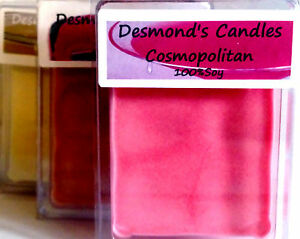 Desmond's Candles Homemade Drinks Scented 3 oz. Soy Wax Melts/Tarts ...