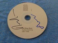 Pet Shop Boys Group Signed Autographed CD