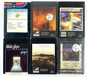 The-Moody-Blues-8-Track-Cartridge-Lot-Of-6-Tapes-Vintage-OOP-Free-Shipping