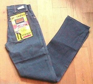 WRANGLER-COLLECTOR-1960s-MEN-BLUE-DENIM-RIVETED-JEANS-COWBOY-RODEO-NEW-amp-TAG-28x33