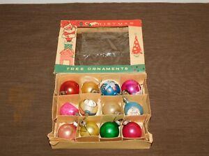 VINTAGE-FANTASIA-BRAND-SANTA-CLAUS-HOLIDAY-12-OLD-CHRISTMAS-TREE-ORNAMENTS