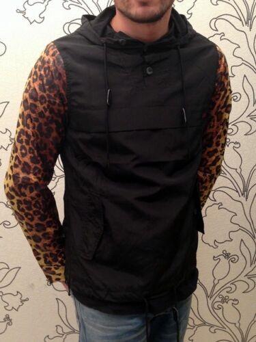 Sixth June Windbreaker MIMETICO Leopard Con Cappuccio Giacca Party Clubwear Moda