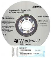 Windows 7 Ultimate 64 Bit Dvd Mit Lizenzaufkleber Coa