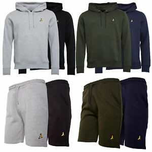 Mens-Brave-Soul-2-Pack-Over-The-Head-Hoodie-Shorts-Brushed-Back-Fleece-Fashion