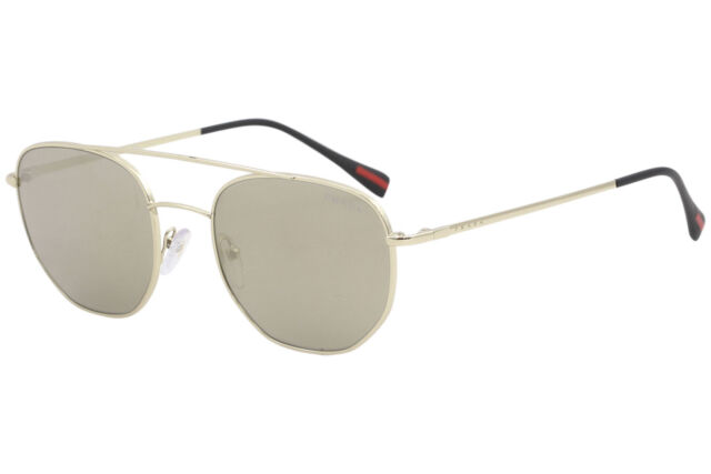 eeff6b80483 Original PRADA PS 56ss Zvn-1c0 Gold Frame Brown Lens Square 53mm Sunglasses