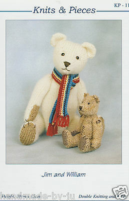BERTIE Knits /& Pieces Sandra PolleyTeddy bear knitting pattern KP-02