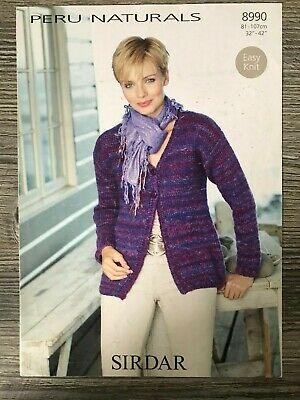 Sirdar Peru Naturals Knitting Pattern: Ladies Cardigan, Chunky, 32 42