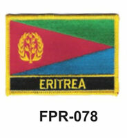 2-1/2'' X 3-1/2 Eritrea Flag Embroidered Patch