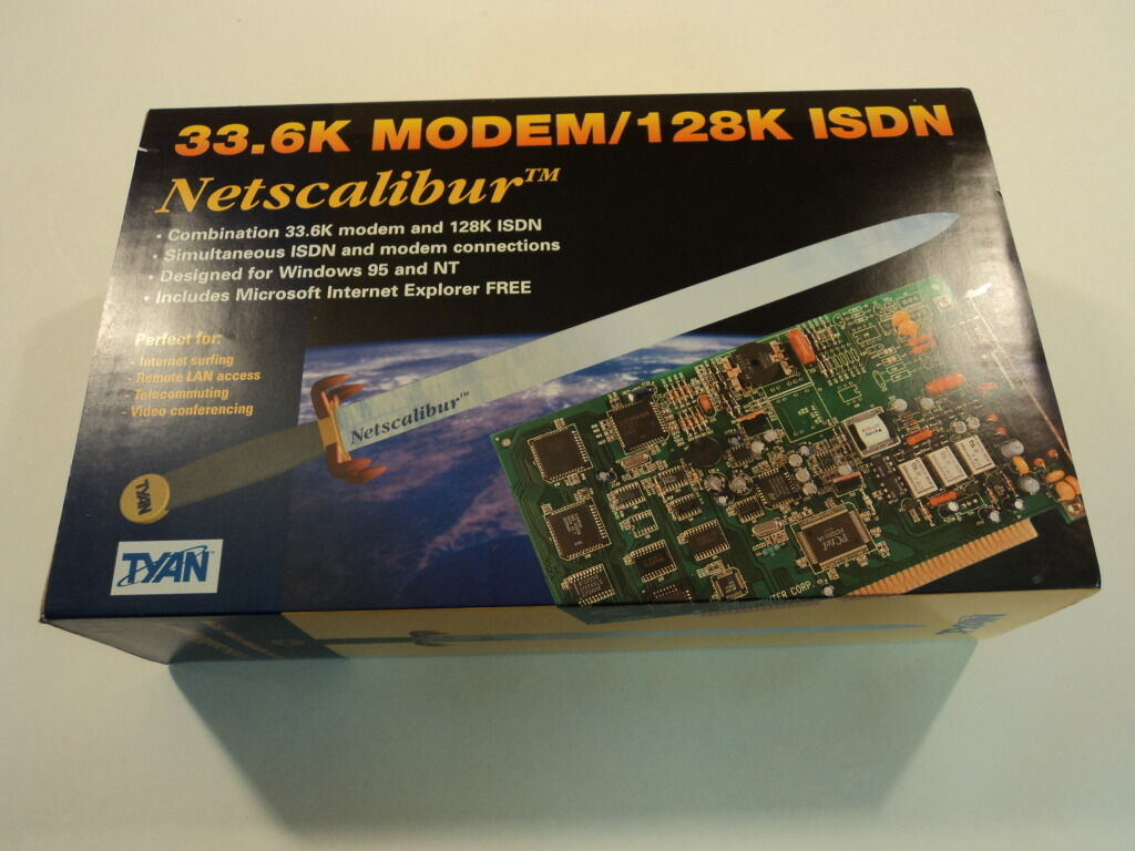 Tyan 33.6K Modem 128K ISDN Windows 95 and NT Netscalibur