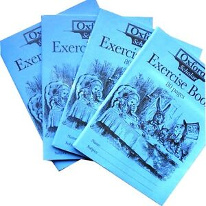 Exercise-Books-Pack-of-4-Ruled-Size-200-x-155mm-Oxford-Scholar-Alice