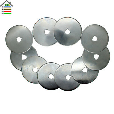 10pc 60mm Rotary Cutter Replacement Blades Sewing Paper Cloth Fabric Cutting